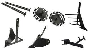 Комплект насадок для FJ500 (грунтозацепы, удлинитель, плуг, картофелевыкапыватель, окучник, сцепка) в Пионерскийе